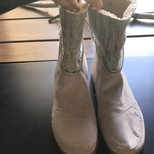 Toms cable knit boots